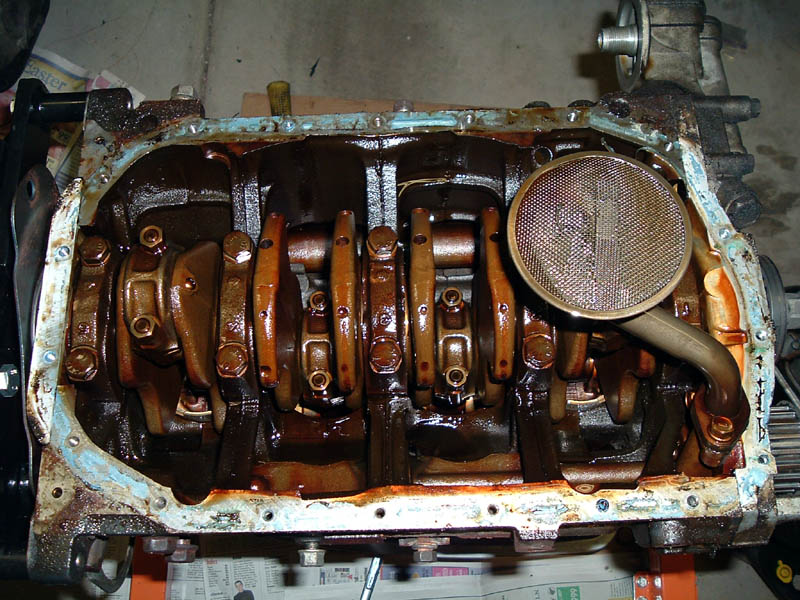 Worn Engine Bearings : Dohc conversion disassembling the engine